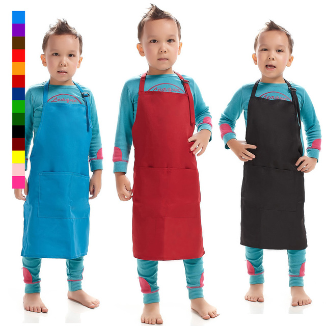 kitchen apron for kids aid electric kettle kindergarten children hanging neck child sleeveless painting baking aprons dressing clothing custom logo