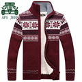 AFS JEEP 2016 Winter Cashmere Inner Man's Cardigan Sweater,High Warmly Russian Winter Man's Thickness Casual Knitted Sweater