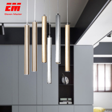 led Pendant Lamp Long Tube lamp Kitchen Island Dining Room Shop Bar Decoration Cylinder Pipe Pendant Light Kitchen Lamp ZDD0008