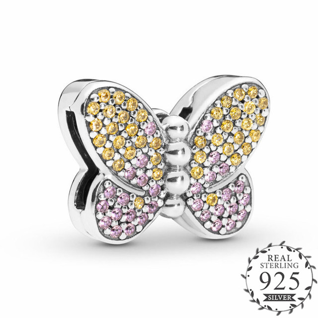 New 2019 Garden Reflexions Bedazzling Butterfly Clip Charm fits  Reflexions Bracelets 925 Sterling Silver Original Beads.