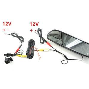 Image 4 - GSPSCN Monitor de espejo HD para coche, 4,3 pulgadas, CCD, vídeo de asistencia de estacionamiento para coche, visión infrarroja LED, cámara de visión trasera de marcha atrás
