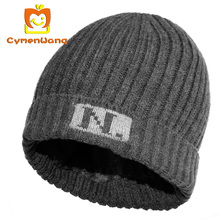 Cymenwang Knitted Wool Men Hats Female Chapeau Winter Beanies warmer Casual Outdoor Mask Ski Caps Thick Cap For Women Skullies