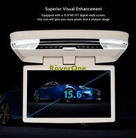 15,6 ''дюймовый авто ТВ монитор Автомобильный тренер оранжевый маячок на крышу крепление, откидной потолок подъемник, 12 В HDMI отвесной монитор,