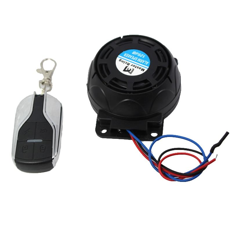 9-16v 125dB Motocykl Alarm Scooter Moto Anthi system kradzieży dla - Akcesoria motocyklowe i części - Zdjęcie 3