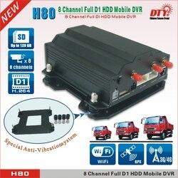 H.264 8ch dvr  dysk twardy taksówką autobus samochodowy 3g gps mdvr  H80-3G