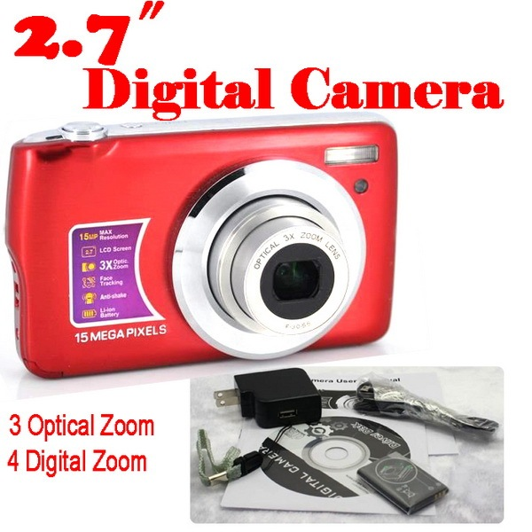 by dhl or ems 20 pieces 15MP 4x Digital zoom 3x Optical Camera 2.7 Inches Anti-shake Face Detection digital camera