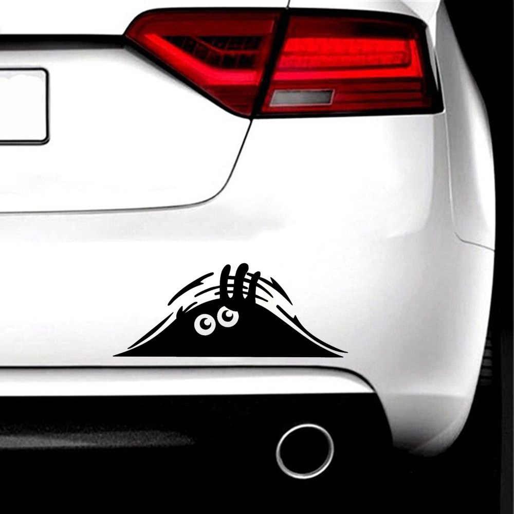 Nuovi Adesivi Per Auto Divertente Creativo 3D Occhi Grandi Auto Decal Sticker Nero Sbirciare Mostro 20x8CM Auto Prodotti accessori Per auto