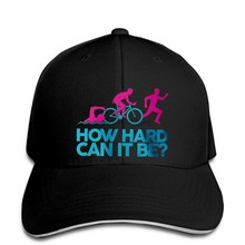 Baseball cap Triathlon How Hard Men's Baseball caps - Joke Novelty Sports Swim Bike Run Fitness(China)