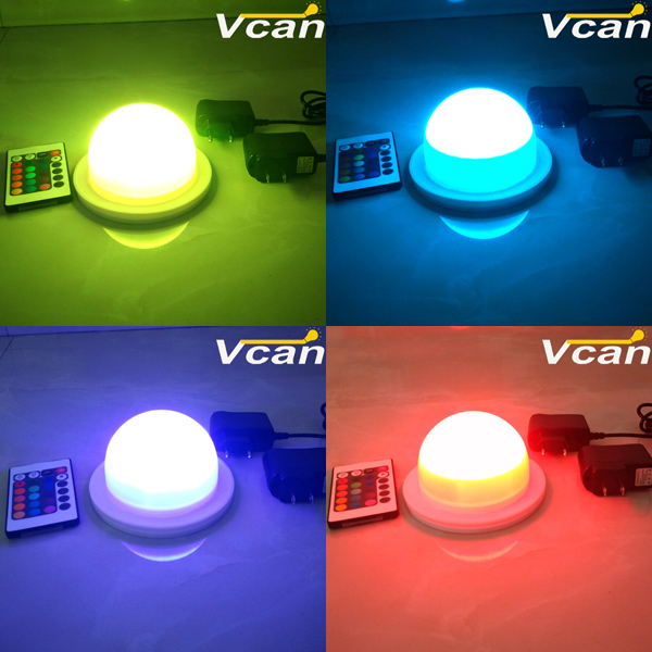 NEW 2pcs FAST Free Shipping Super Bright Waterproof Rechargeable Wireless Led Multi Color Light Bulb north america free shipping super bright 54w led corn light waterproof 100v 300v ul certified 12pcs lot for art museum