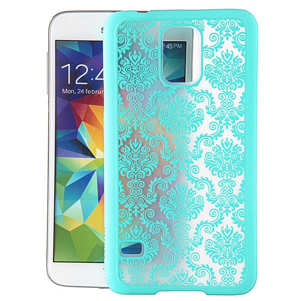 pretty nice aa9e6 4006b US $1.74  Phone Cases For Samsung Galaxy S4 S5 S6 S7 Edge A3 A5 A7 Retro  Damask Pattern Engraved Matte Back Case Cover + Free Gift Film on ...