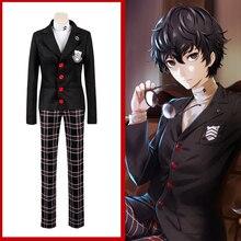 Game Persona 5 The Animation Cosplay Costumes Ren Amamiya Cosplay Costume Halloween Party Akira Kurusu Joker Cosplay Costume