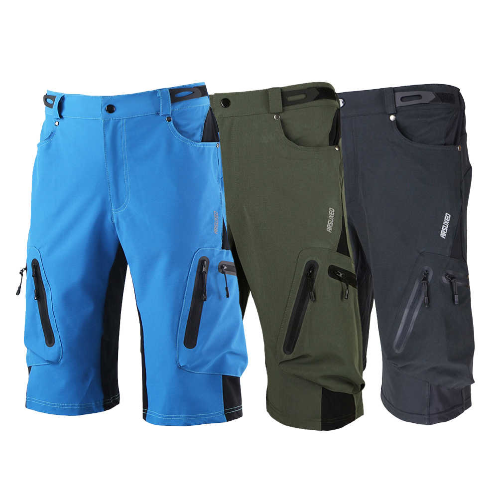 Arsuxeo Summer Men s Cycling Shorts Breathable Loose Outdoor Sports MTB  Riding Road Mountain Bike Short Trousers 2c222444f