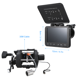"""Image 4 - 1000TVL Fish Finder Underwater Ice Fishing Camera with Trolling Reel 4.3"""" LCD Monitor 8 Infrared IR LEDs Night Vision Camera"""