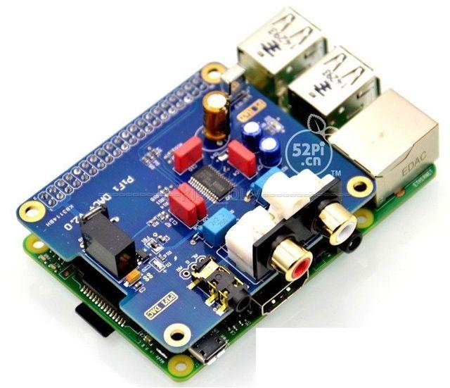 Raspberry pi 2 HIFI DAC I2S Интерфейс Специальный HIFI ЦАП Аудио Звуковая Карта Modulecompatible raspberry pi B + pi2