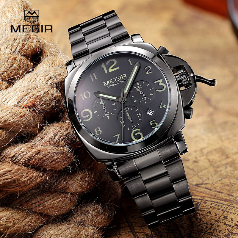 Megir PANEARAI STYLE Analog Chronograph Quartz Watch 1