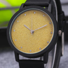 New Fashion Women Watch MILER Top Brand Leather Quartz Watches Luxury Scrub Dial Diamond Dress Watch relogio Reloj mujer Hours