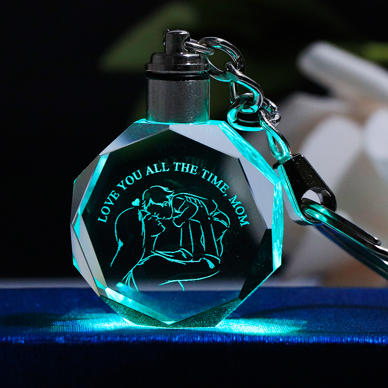 Laser Engrave Gift for Mom Miniature Decoration Colorful LED Light Mother's Day Gift Birthday Gift for Mom Present image