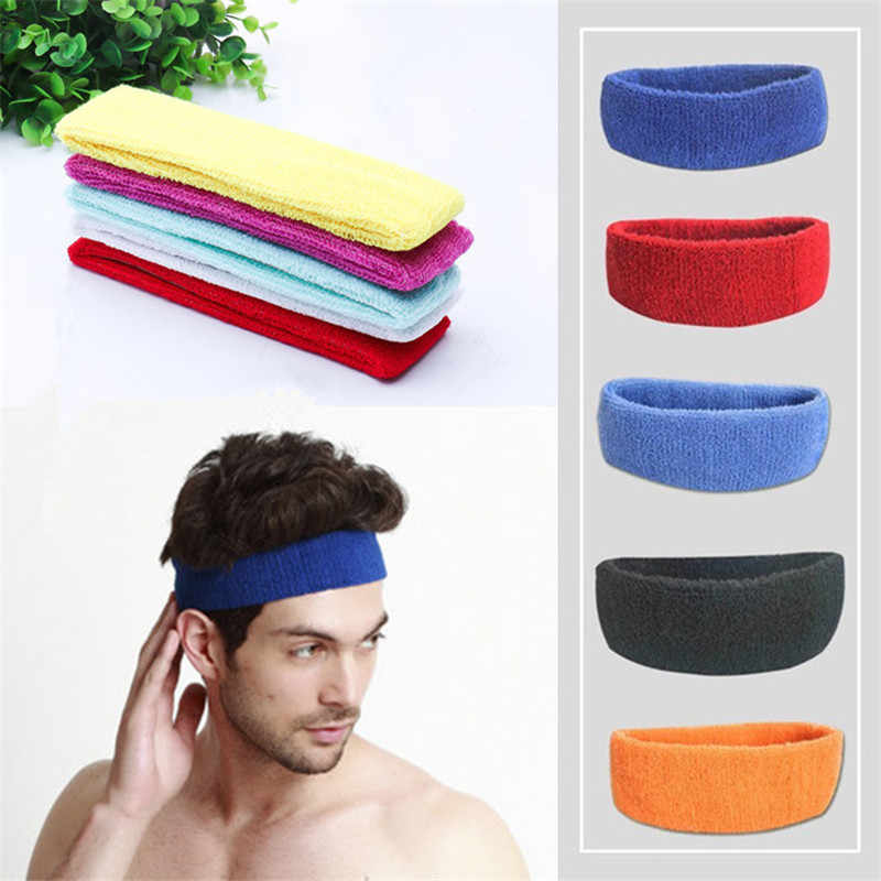 High Quality men Running headband Women Sports Fitness Yoga HairBands Towel Stretch Hairbands