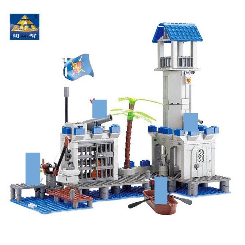 365Pcs Conjuntos de Blocos de Construção Tijolos LegoINGLs Navio Piratas Marinha Headquaters Militares Arma Brinquedos para As Crianças Presentes de Natal