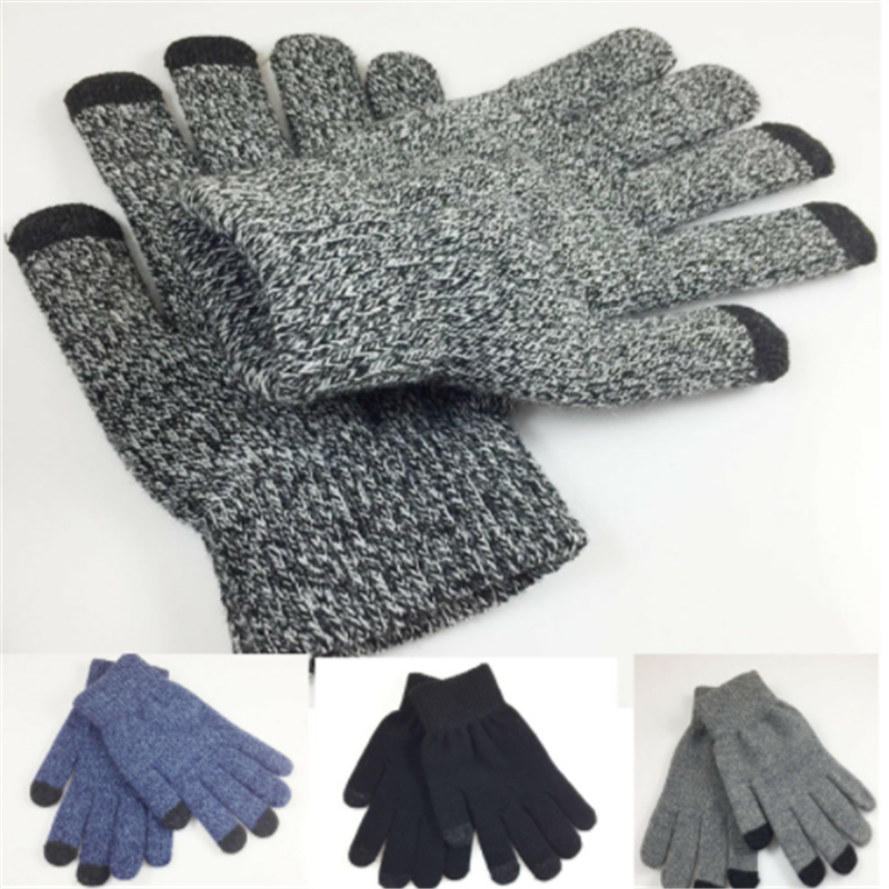 High Quality Knit Gloves Man Woman Warm Mittens Plus Velvet Thicken Gloves For Touch Screens Wool Cashmere Unisex Gloves Winter