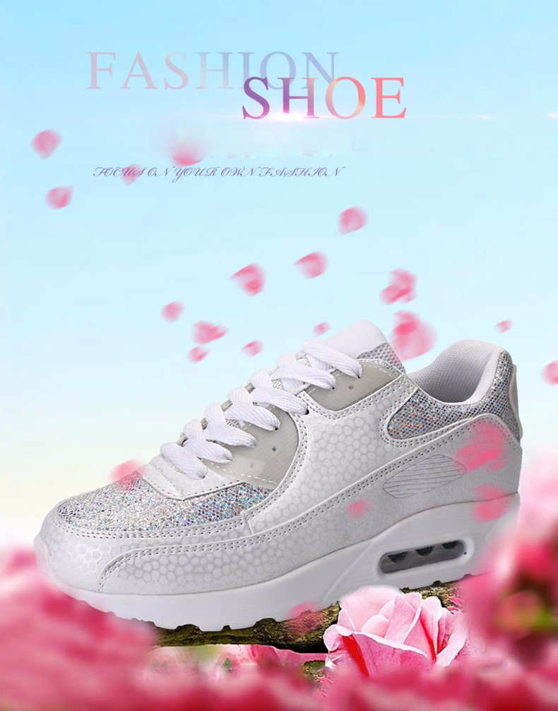 Fashion KUYUPP Wedges Women Trainers Breathable Sport Sequined Cloth Casual Shoes Outdoor Walking Shoes Zapatillas Mujer YD36 (1)