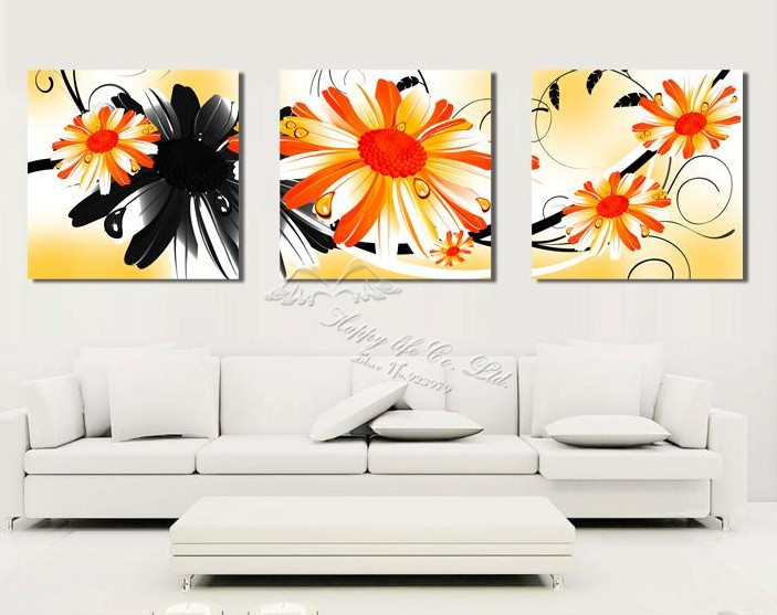 3 Panel Modern Wall Painting Wall Panel Tree Artwork Decoration Home Modern Picture Household Items Bedroom