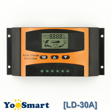 30A Solar Charge Controller 12V 24V With LCD Solar Panel Battery Regulator for Max PV Input 55V Adjustable Parameter max pv input 100v mini solar charge controller tracer1210an with white mt50 remote meter 10a 10amp 12v 24v auto work
