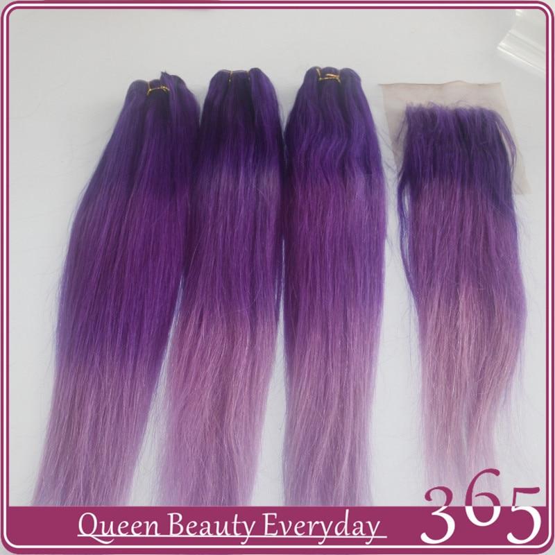 Ombre Brazilian Hair Dark Purplepurplelight Purple Virgin Human