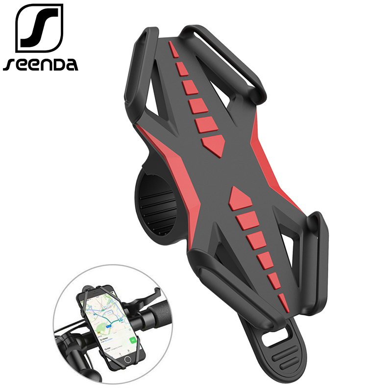 SeenDa Universal Motorcycle Phone Holder Stand For IPhone Anti-Slip Bike Holder Shake Bicycle Handlebar Mount GPS Bracket