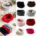 Hot Sale 2016 New fashion style Unisex Winter knitted Scarves Wool Collar Neck Warmer woman Crochet Ring Spain Loop Scarf CH006