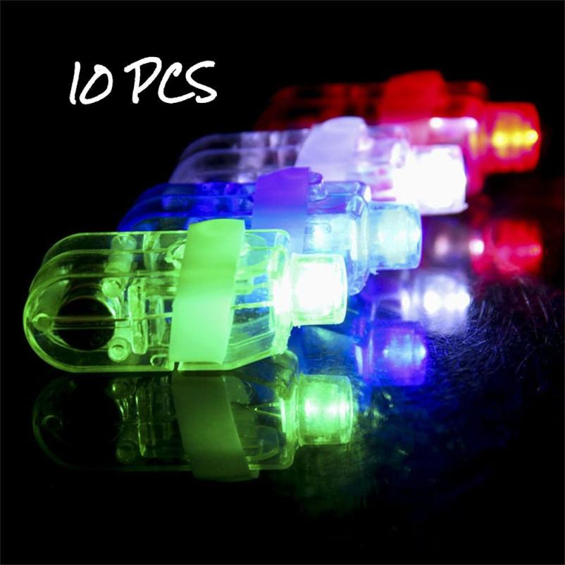 10PCS LED Light Up Flashing Finger Rings Glow Party Favors Kids Children Toys Great Funny Gift Drop Shipping D30