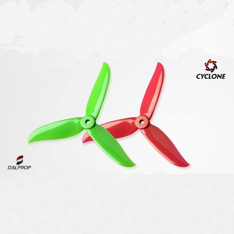 20pcs (10 Pair ) DALPROP T5045C Cyclone 5045 Tri-prop Tri-blade  Propeller For QAV-X QAVR 56 FPV Racer Quadcopter Drone dal t5046c cyclone propeller red