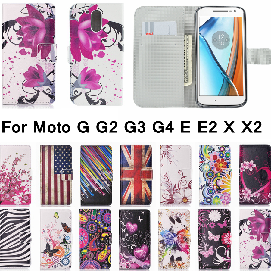 new product 8ff8b 9d18c Pk Bazaar moto e fashion leather flip cover wallet case for motorola ...