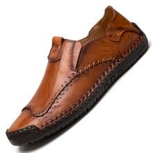 20fd36f5f4f5 Hommes mocassins chaussures 2019 nouvelle mode hommes décontracté  chaussures en cuir confortable hommes plat conduite mocassins