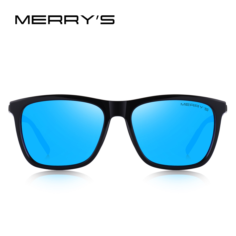 Image 2 - MERRYS DESIGN Men Women Classic Square Polarized Sunglasses Aluminum Legs Lighter Design UV400 Protection S8286-in Men's Sunglasses from Apparel Accessories