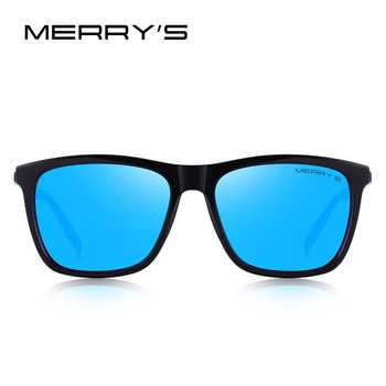 MERRYS DESIGN Men Women Classic Square Polarized Sunglasses Aluminum Legs Lighter Design UV400 Protection S8286