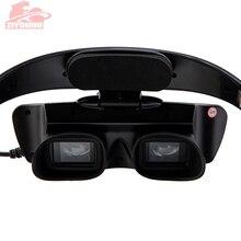 نظارات رؤية ليلية عالية الوضوح تعمل بالأشعة تحت الحمراء مثبتة على الرأس من نوع خفيف الوزن أثناء الرؤية في جهاز مظلم للصيد منظار ثنائي العينين ليلي