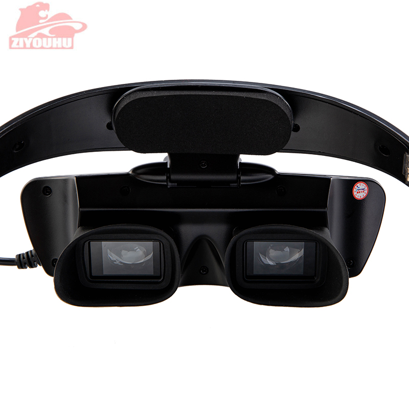 HD инфракрасные очки ночного видения с креплением на голову, легкий вес, для просмотра в темноте, устройство для охоты, ночного бинокулярного телескопа-in Ночное видение from Спорт и развлечения
