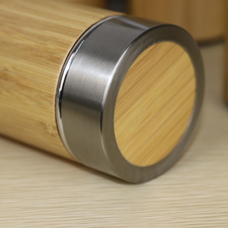400ml bamboe reizen thermosflessen roestvrij staal waterfles - Keuken, eetkamer en bar - Foto 5