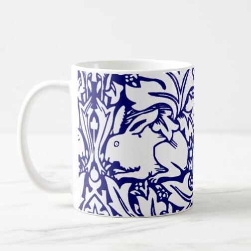 Novelty William Morris Brother Rabbit Coffee Mug Tea Cups Modern Blue White Bunny Art Design Kitchen Home Easter Chic Gifts In Mugs From Garden