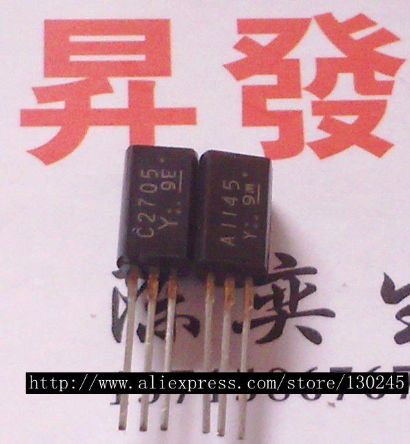 10pcs/lot 5PCS A1145 + 5PS C2705 2SA1145 2SC2705 In Stock