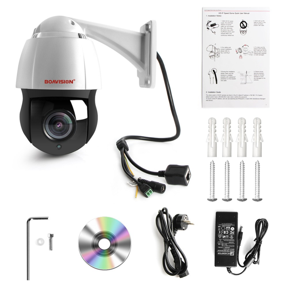 Image 5 - New 4.5 Inch HD 1080P 4MP 5MP PTZ IP Camera Outdoor Network Onvif Speed Dome 30X Zoom Lens PTZ Camera CCTV 150m IR Night Vision-in Surveillance Cameras from Security & Protection