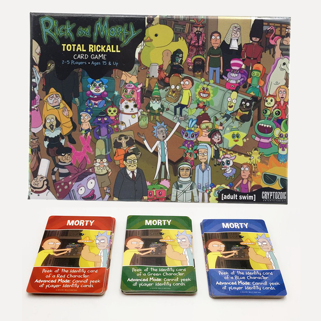 Cartas Divertido Para Adultos Rick Y Morty Total Rickall Cooperacion