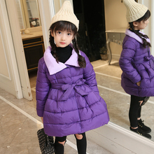 hot deal buy 2017 new fashion winter jacket for girls children's clothing kids jackets for gril winter gril outerwear & coats for girls