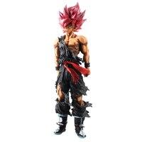 35cm Dragon Ball Z Super Saiyan SMSP Red Hair Son Goku Figure Toys PVC Dragonball Figurine Model Doll