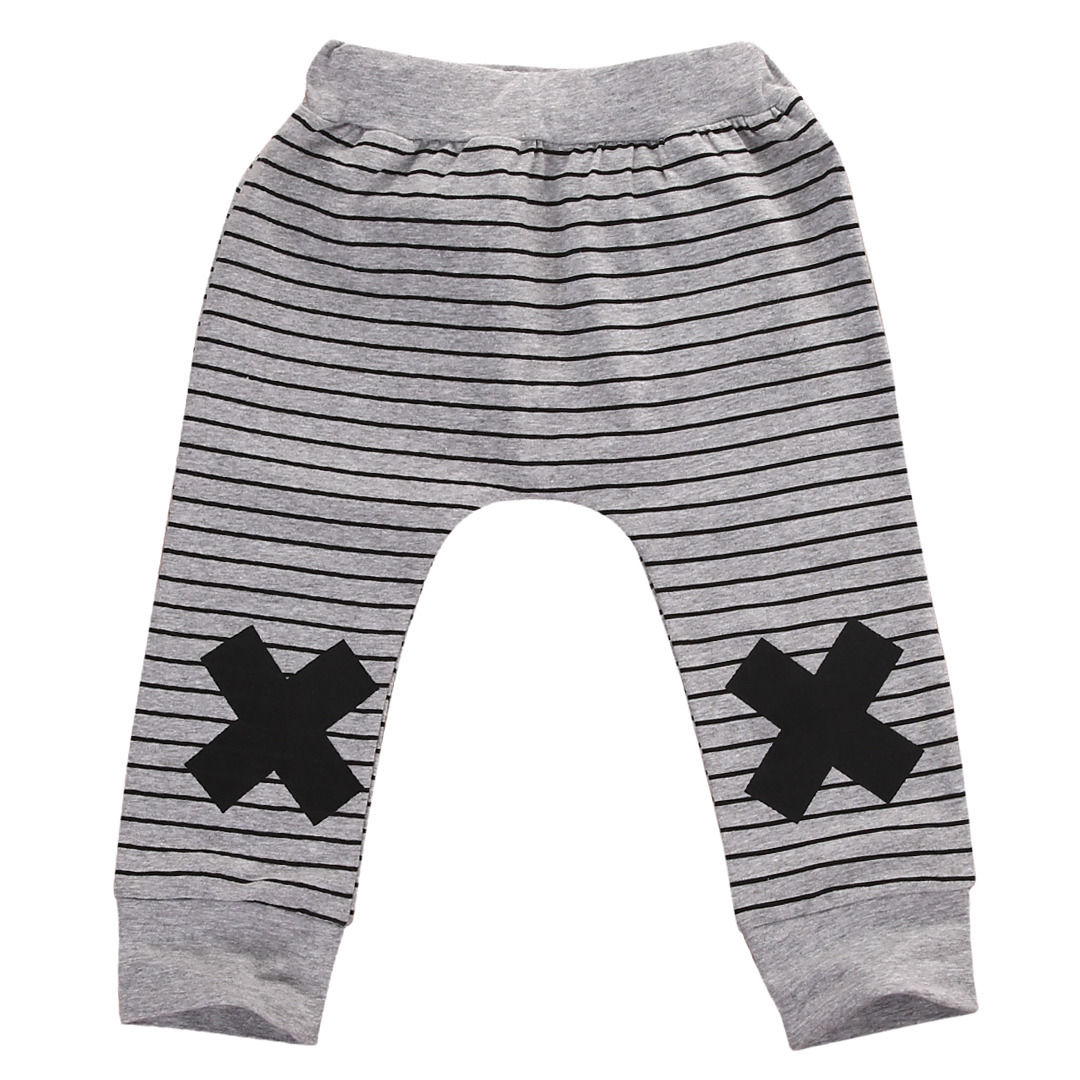 Infant-Baby-Boys-Girls-Striped-Bottom-Pants-Leggings-Harem-Pants-Trousers-0-2Y-4