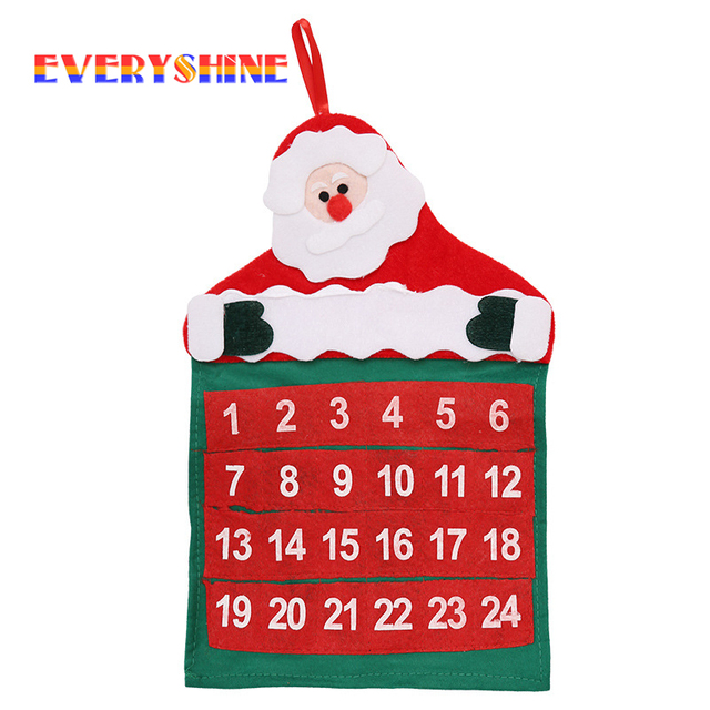 Kalender Weihnachten 2019.Us 3 5 2019 Neue Jahr Frohe Weihnachten Santa Claus Advent Kalender Weihnachten Baum Hängen Ornament Banner Für Home Dekorationen Sd133 In 2019