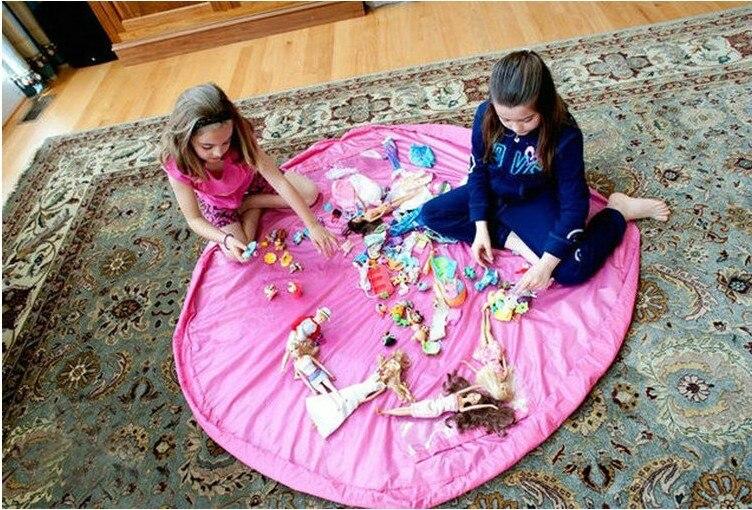 2pcs Portáteis Crianças Brinquedo Saco De Armazenamento Conveniente Fora Piquenique Esteira do Jogo Brinquedos Bloco Caixa Organizador Sacos De Armazenamento Prático 45CM + 150 CENTÍMETROS