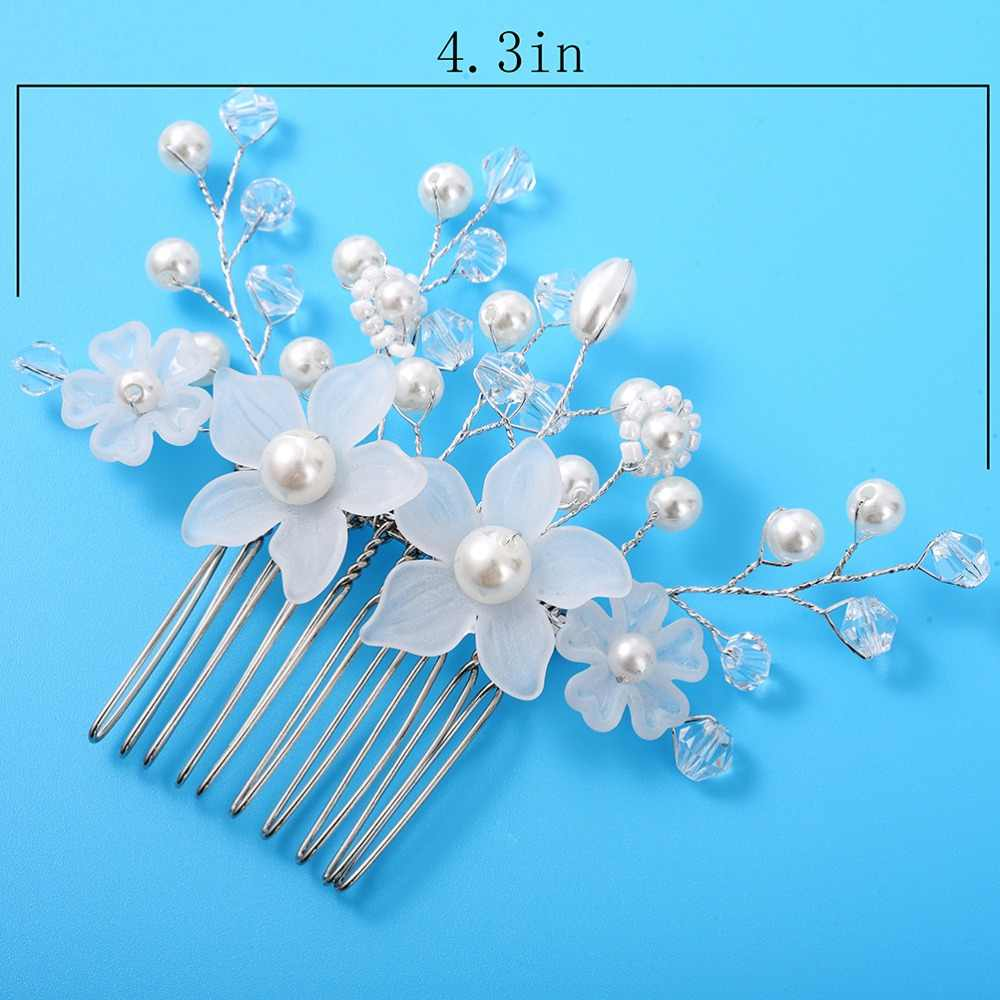 ... M MISM Woman Weeding Bling Hair Comb Luxury Crystal Hairpins Pearl  Hairclips Vintage Bride Rhinestone Hair ... b12e0a1a4782