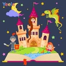 Yeele Catoon Castle Mermaid Dinosaur Children Birthday Party Photography Background Baby Photographic Backdrop Photo Studio